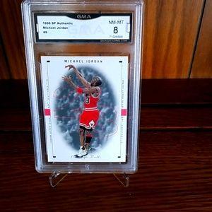 1998 Michael Jordan Upper Deck #9, GMA grade 8